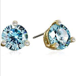 Kate Spade Aquamarine Crystal Stud Earrings